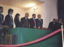 Il Ministro Gasparri e L'On. Pace (Giuria Sciacca 2001)